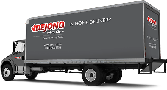 de jong in-home delivery truck.